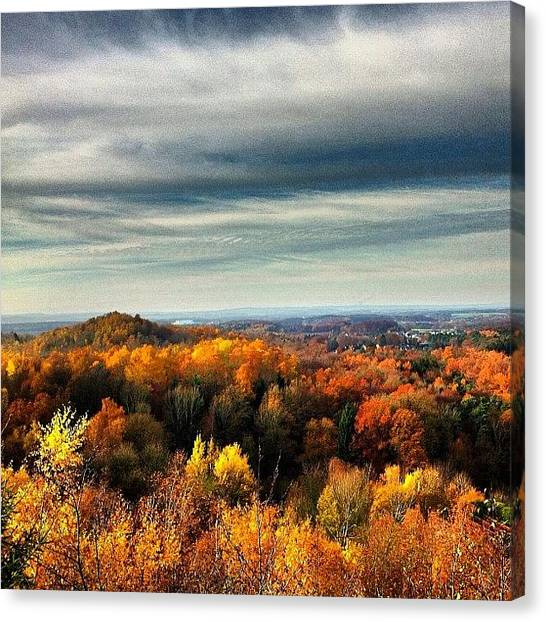Rainclouds Canvas Print - Colorful Viewpoint. #viewpoint #autumn by Manuela Kohl