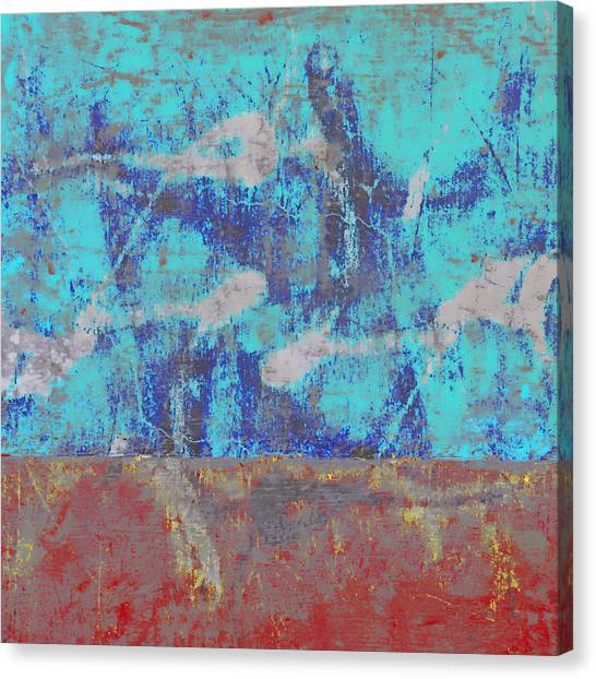 Abstraction Canvas Print - Colorful Walls Square Number 1 by Carol Leigh
