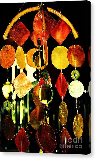 Wind Chimes Canvas Print - Colorful Wind Chime by Susanne Van Hulst
