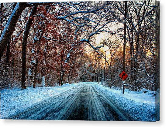 Colorful Winter Canvas Print