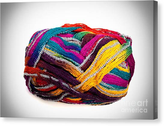Colorful Yarn Canvas Print