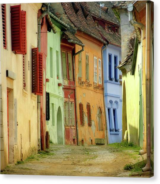 House Canvas Print - Colors by