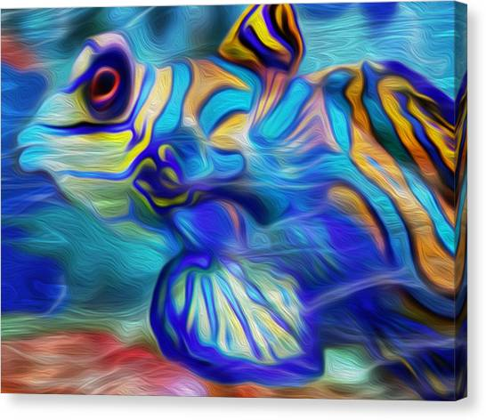 Tropical Fish Canvas Print - Colors Below by Jack Zulli