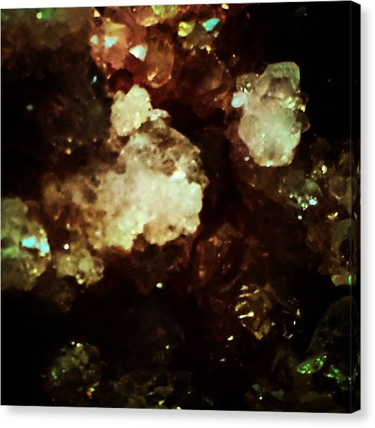 Gemstones Canvas Print - Colors In The Dark by David Lubetsky