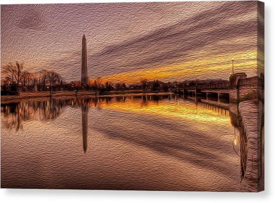 Colors In The Morning Canvas Print by David Hahn