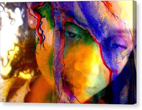The Mask Canvas Print by Jodie Marie Anne Richardson Traugott          aka jm-ART
