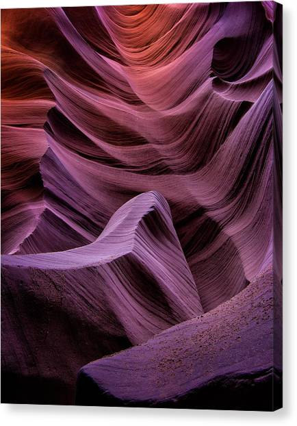 Colors Of Antelope Canyon Canvas Print