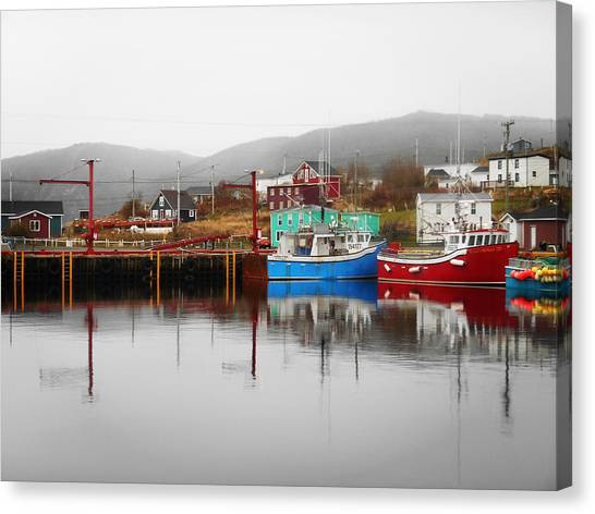 Newfoundland And Labrador Canvas Print - Colors Of Branch by Zinvolle Art