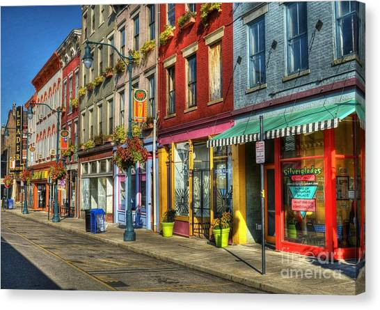 Canvas Print featuring the photograph Colors Of Cincinnati by Mel Steinhauer