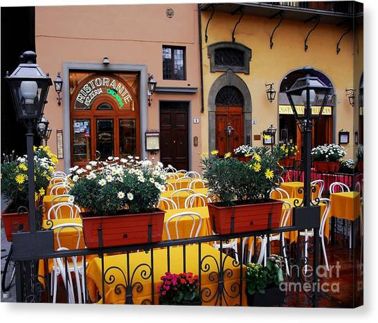 Canvas Print featuring the photograph Colors Of Italy by Mel Steinhauer