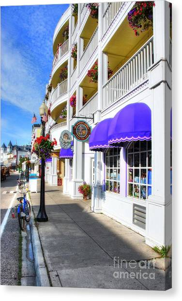 Canvas Print featuring the photograph Colors Of Mackinac Island by Mel Steinhauer