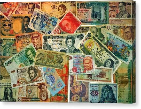 Yen Canvas Print - Colors Of Money by Benjamin Yeager