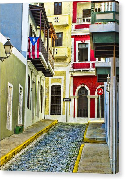Multi Canvas Print - Colors Of Old San Juan Puerto Rico by Carter Jones