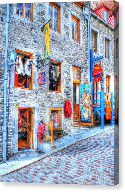 Drain Pipe Canvas Print - Colors Of Quebec 12 by Mel Steinhauer