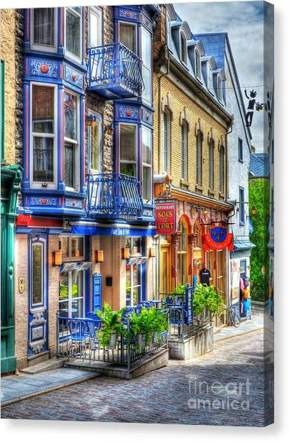 Quebec City Canvas Print - Colors Of Quebec 15 by Mel Steinhauer