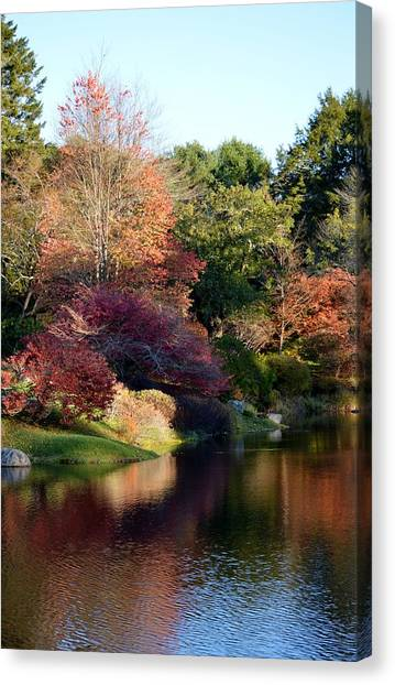 Colors Of Still Waters Glow Canvas Print by Lena Hatch