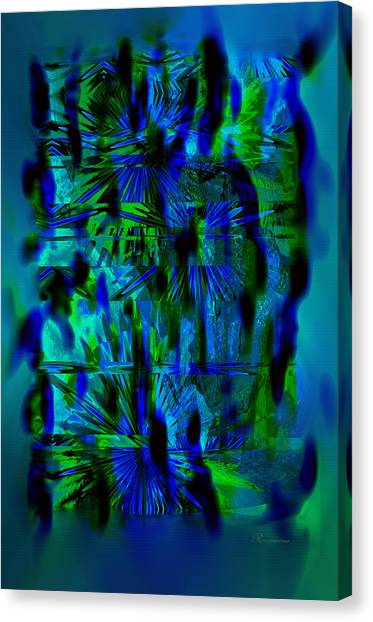 Abstract Expressionism Canvas Print - Colors Of The Night by Georgiana Romanovna