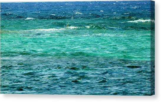 Colors Of The Sea  Canvas Print