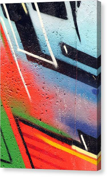 Graffiti Walls Canvas Print - Colors On The Wall by Steve K
