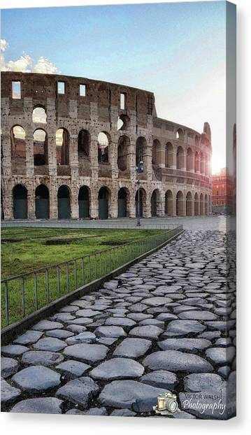 Coloseum Sunrise Canvas Print by Victor Walsh Photography