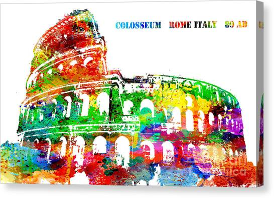 Colosseum Rome Italy Canvas Print