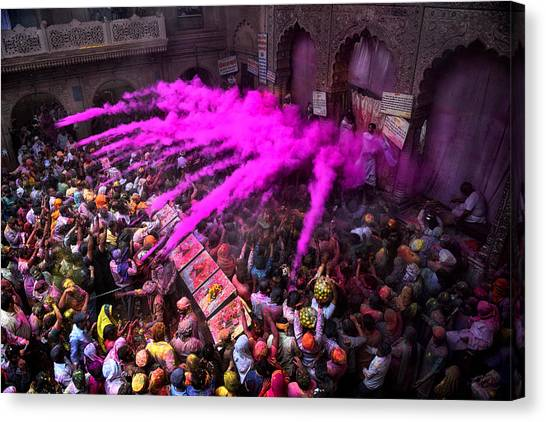 Colour Blast Canvas Print by Avishek Das