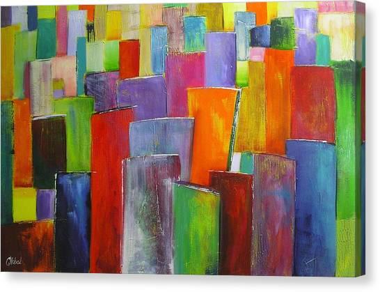 Colour Block 3 Painting Canvas Print