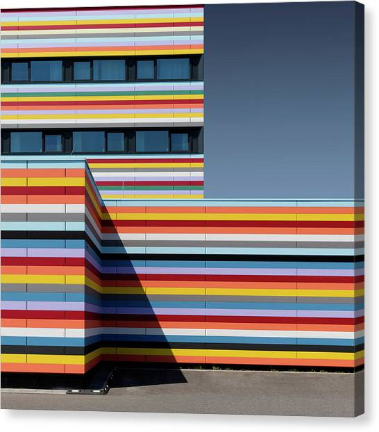 Rainbow Canvas Print - Coloured Corner by Markus K??hne