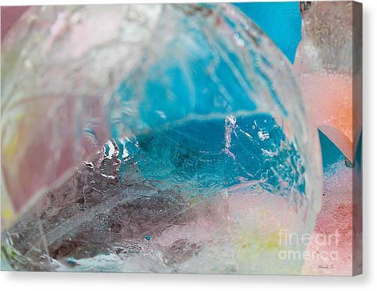 Coloured Ice Creation Print #4 Canvas Print