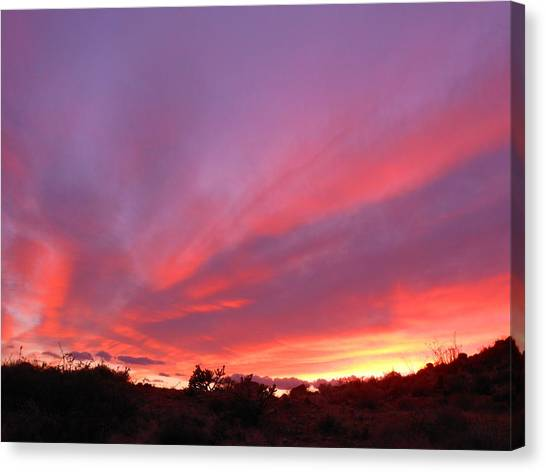 Colourful Arizona Sunset Canvas Print
