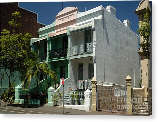 Colourful Australian Terrace House Canvas Print