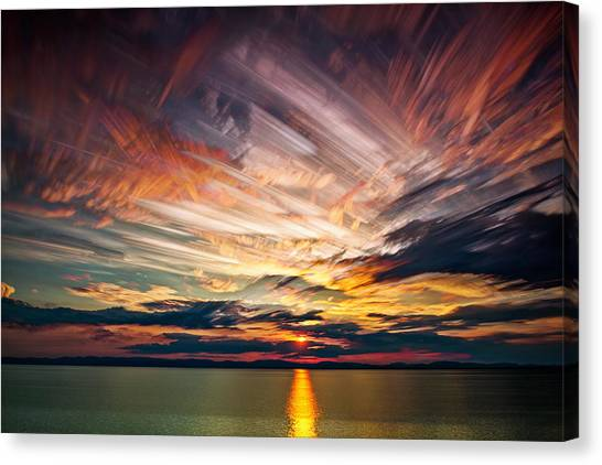 Quebec Canvas Print - Colourful Cloud Collision by Matt Molloy