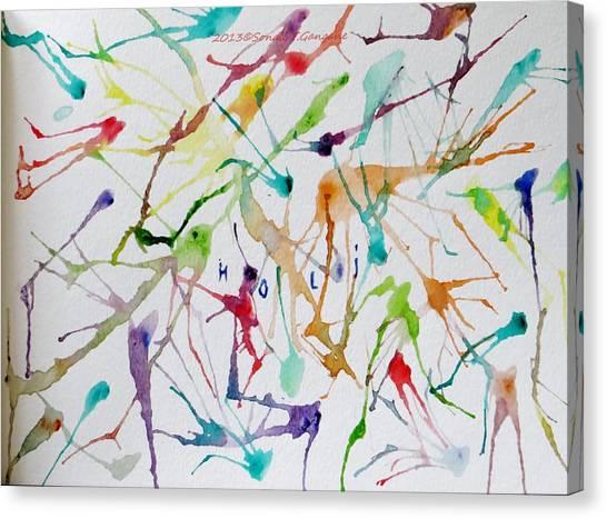 Colourful Holi Canvas Print