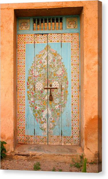 Colourful Moroccan Entrance Door Sale Rabat Morocco Canvas Print by PIXELS  XPOSED Ralph A Ledergerber Photography