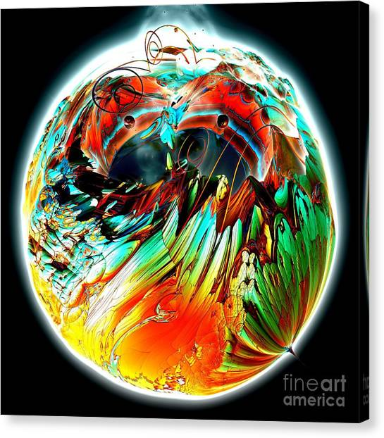 Colourful Planet Canvas Print by Bernard MICHEL