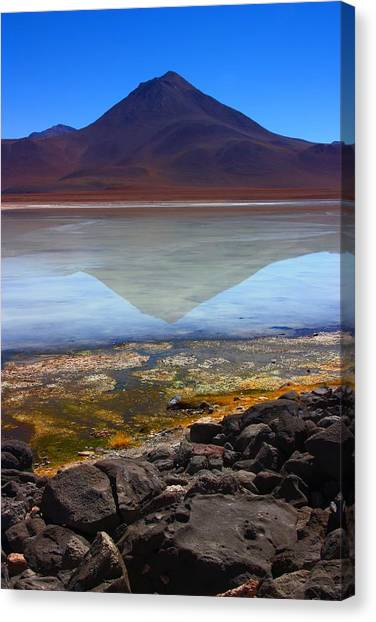 Bolivian Canvas Print - Colourful Reflections by FireFlux Studios