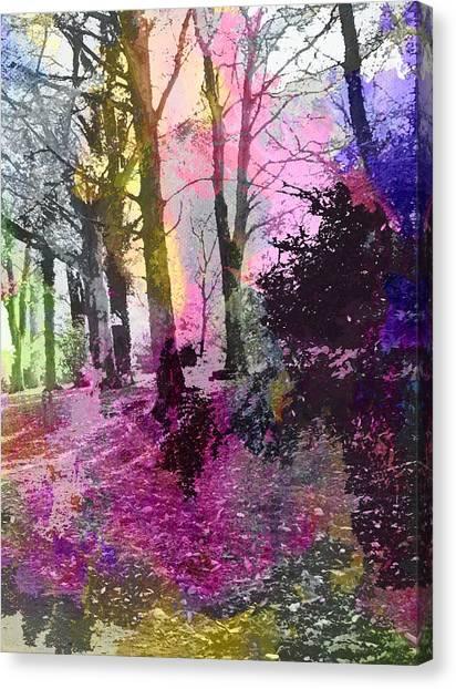 Colourful Wood Canvas Print