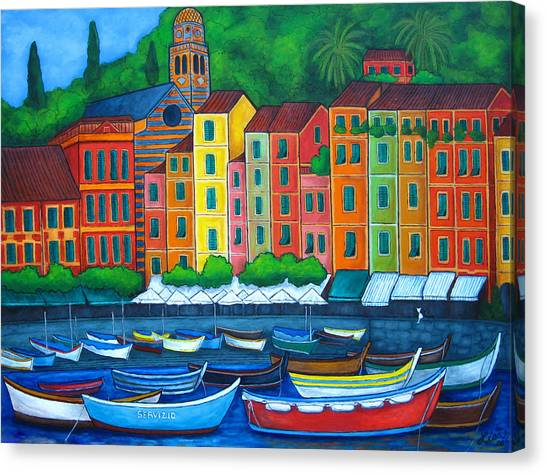 Colours Of Portofino Canvas Print