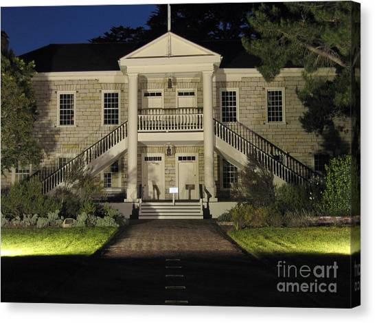 Colton Hall At Night Canvas Print
