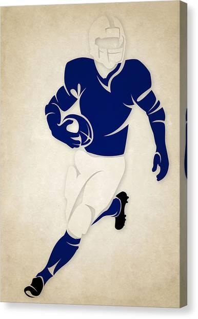 Indianapolis Colts Canvas Print - Colts Shadow Player by Joe Hamilton