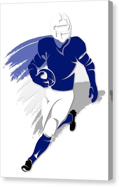Indianapolis Colts Canvas Print - Colts Shadow Player2 by Joe Hamilton