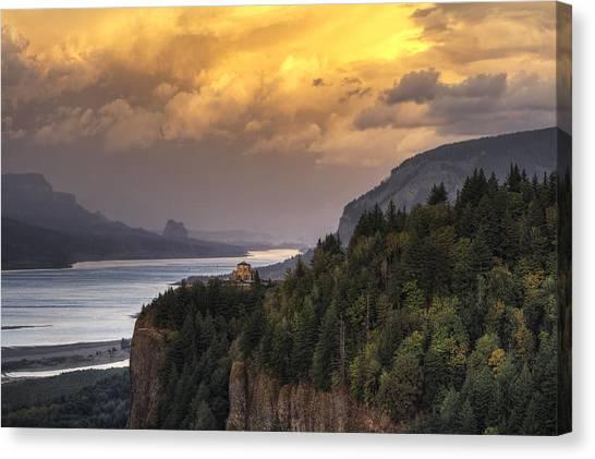 Columbia River Gorge Vista Canvas Print