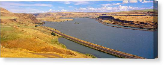 Landform Canvas Print - Columbia River In Oregon, Viewed by Panoramic Images