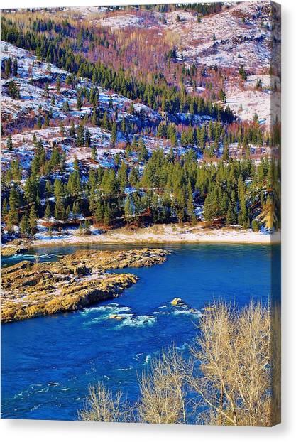 Columbia River Rapids Canvas Print