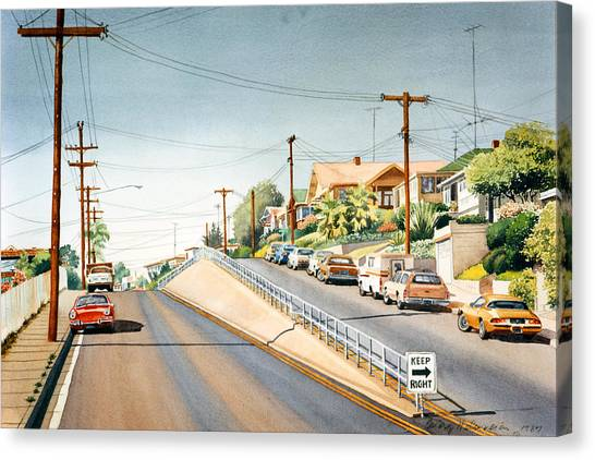 Utility Canvas Print - Columbia Street Middletown by Mary Helmreich