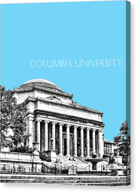 Colleges And Universities Canvas Print - Columbia University - Sky Blue by DB Artist
