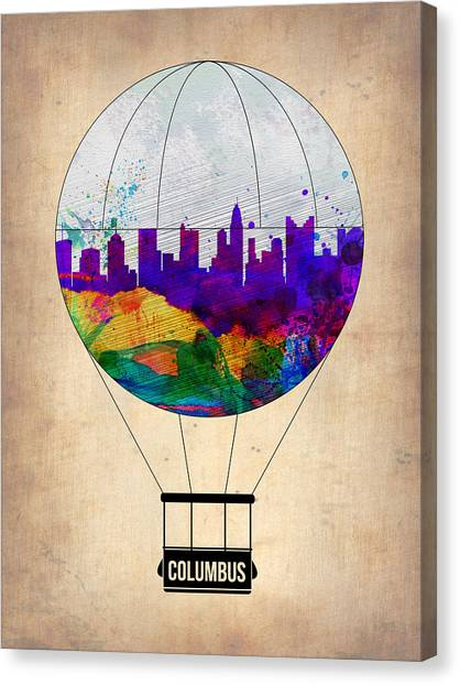 Airports Canvas Print - Columbus Air Balloon by Naxart Studio