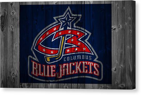 Metropolitan Division Canvas Print - Columbus Blue Jackets Barn Door by Dan Sproul