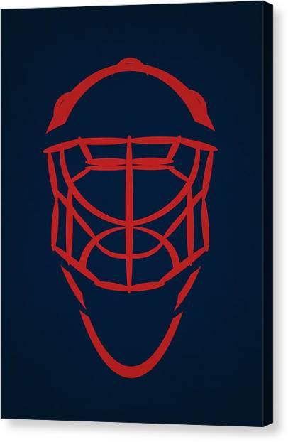 Columbus Blue Jackets Canvas Print - Columbus Blue Jackets Goalie Mask by Joe Hamilton