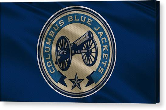 Columbus Blue Jackets Canvas Print - Columbus Blue Jackets Uniform by Joe Hamilton